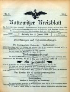 Kattowitzer Kreisblatt, 1914, nr3