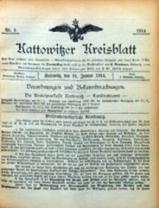 Kattowitzer Kreisblatt, 1914, nr5