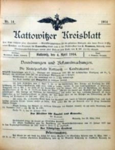 Kattowitzer Kreisblatt, 1914, nr14