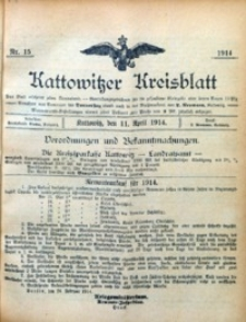 Kattowitzer Kreisblatt, 1914, nr15