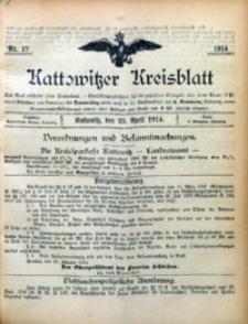 Kattowitzer Kreisblatt, 1914, nr17