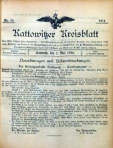 Kattowitzer Kreisblatt, 1914, nr18