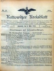 Kattowitzer Kreisblatt, 1914, nr19