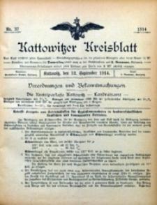 Kattowitzer Kreisblatt, 1914, nr37