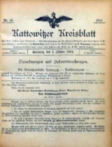 Kattowitzer Kreisblatt, 1914, nr40