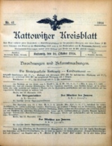 Kattowitzer Kreisblatt, 1914, nr41