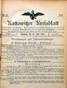 Kattowitzer Kreisblatt, 1915, nr26