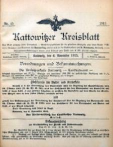 Kattowitzer Kreisblatt, 1915, nr45