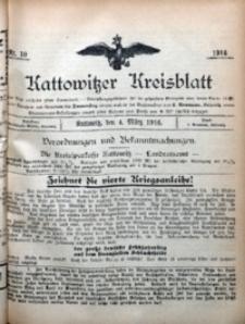 Kattowitzer Kreisblatt, 1916, nr10