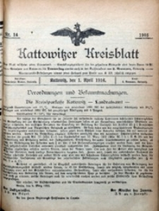 Kattowitzer Kreisblatt, 1916, nr14
