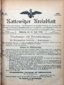Kattowitzer Kreisblatt, 1916, nr24