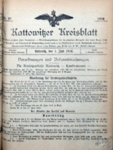 Kattowitzer Kreisblatt, 1916, nr27