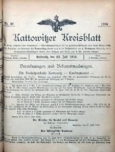 Kattowitzer Kreisblatt, 1916, nr30