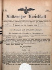 Kattowitzer Kreisblatt, 1916, nr38
