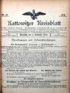 Kattowitzer Kreisblatt, 1916, nr45