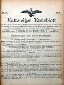 Kattowitzer Kreisblatt, 1916, nr52