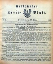 Kattowitzer Kreisblatt, 1891, nr11