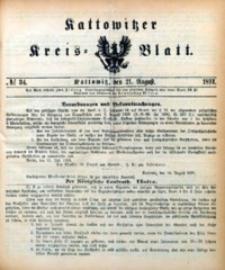 Kattowitzer Kreisblatt, 1891, nr34