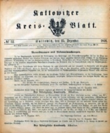 Kattowitzer Kreisblatt, 1891, nr52