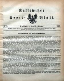 Kattowitzer Kreisblatt, 1892, nr8