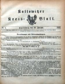 Kattowitzer Kreisblatt, 1892, nr9
