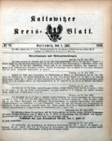 Kattowitzer Kreisblatt, 1892, nr27