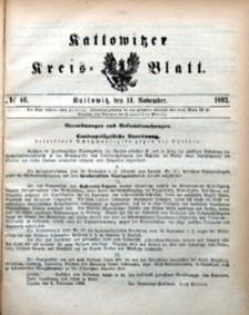 Kattowitzer Kreisblatt, 1892, nr46