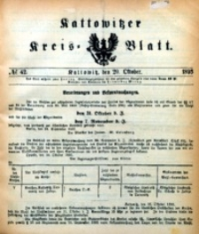 Kattowitzer Kreisblatt, 1893, nr42
