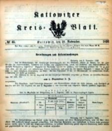 Kattowitzer Kreisblatt, 1893, nr45