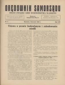 Orędownik Samorządu, 1938, R. 14, nr 4