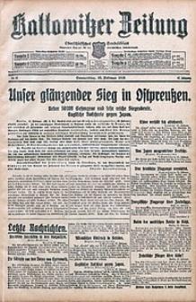 Kattowitzer Zeitung, 1915, Jg. 47, nr47