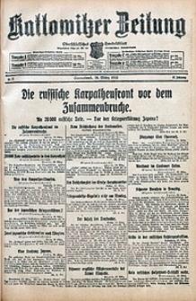 Kattowitzer Zeitung, 1915, Jg. 47, nr77