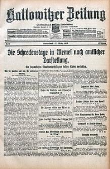 Kattowitzer Zeitung, 1915, Jg. 47, nr84