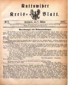 Kattowitzer Kreisblatt, 1884, nr6