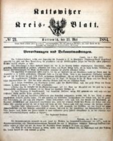 Kattowitzer Kreisblatt, 1884, nr21