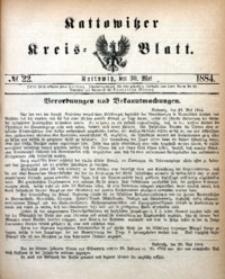 Kattowitzer Kreisblatt, 1884, nr22