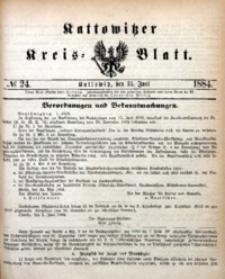 Kattowitzer Kreisblatt, 1884, nr24