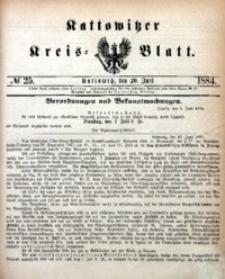 Kattowitzer Kreisblatt, 1884, nr25