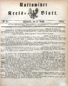 Kattowitzer Kreisblatt, 1883, nr35