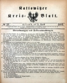 Kattowitzer Kreisblatt, 1884, nr33