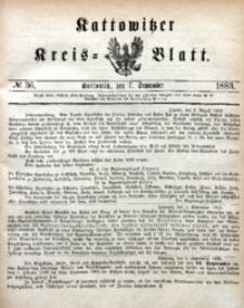Kattowitzer Kreisblatt, 1883, nr36