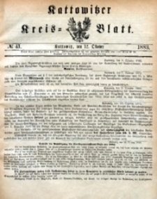 Kattowitzer Kreisblatt, 1883, nr41
