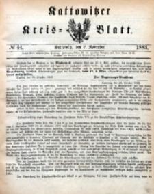 Kattowitzer Kreisblatt, 1883, nr44