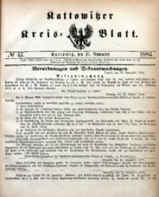 Kattowitzer Kreisblatt, 1884, nr47