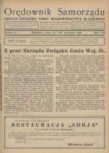 Orędownik Samorządu, 1932, R. 8, nr 6/7