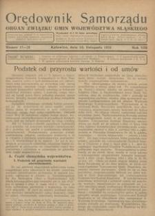 Orędownik Samorządu, 1932, R. 8, nr 17-20