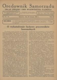 Orędownik Samorządu, 1933, R. 9, nr 13/14