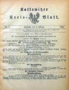 Kattowitzer Kreisblatt, 1906, nr5