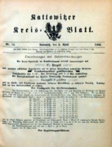 Kattowitzer Kreisblatt, 1906, nr14
