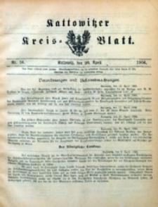 Kattowitzer Kreisblatt, 1906, nr16